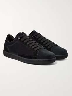 Two-Tone Suede Sneakers - Men - Blue