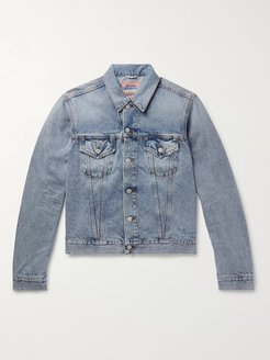 Distressed Denim Trucker Jacket - Men - Blue