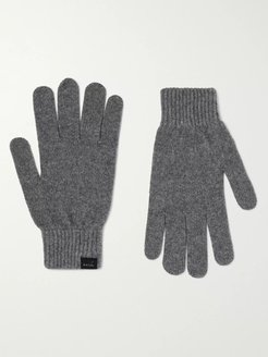 Cashmere and Wool-Blend Gloves - Men - Gray