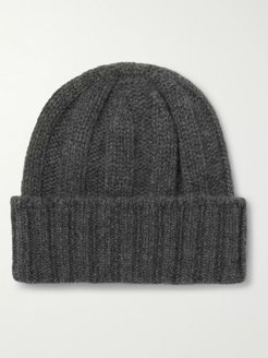 Ribbed Cashmere Beanie - Men - Gray