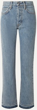 Cropped High-rise Straight-leg Jeans - Indigo