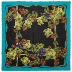 Printed Cashmere And Silk-blend Scarf - Black