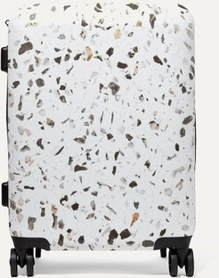 Terrazzo Carry-on Marbled Hardshell Suitcase - White