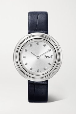 Possession 34mm Stainless Steel, Alligator And Diamond Watch - Silver
