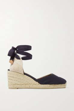 Carina 60 Canvas Wedge Espadrilles - Navy