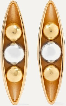 Eadie Silver And Gold-plated Earrings