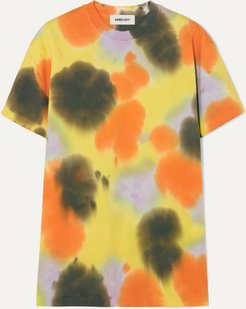 Tie-dyed Cotton-jersey T-shirt - Yellow