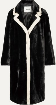 Marianne Two-tone Faux Fur Coat - Black