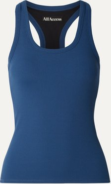 Session Ribbed Stretch Tank - Blue