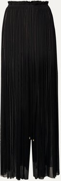 Tegea Pleated Silk-tulle Pants - Black