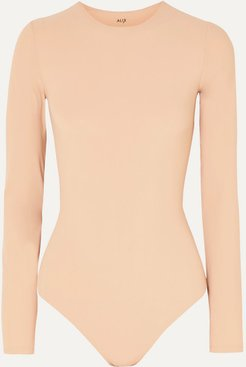 Leroy Stretch-jersey Thong Bodysuit - Sand