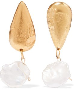 The Fear And The Desire Gold-plated Pearl Earrings