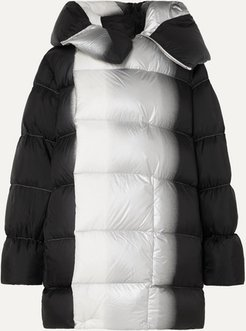 Sisy Oversized Dégradé Quilted Shell Down Coat - Black
