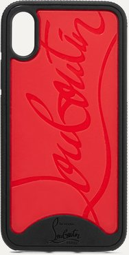 Loubiphone Embossed Pvc Iphone Xs Max Case - Red