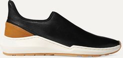 Marlon Leather Slip-on Sneakers - Black