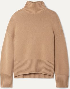 Cashmere Turtleneck Sweater - Tan