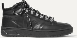 Net Sustain Roraima Leather High-top Sneakers - Black
