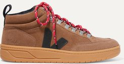 Net Sustain Roraima Suede And Leather High-top Sneakers - Brown