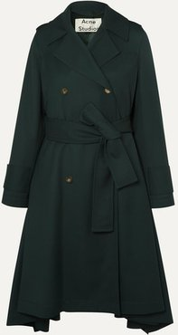 Olwen Twill Trench Coat - Forest green