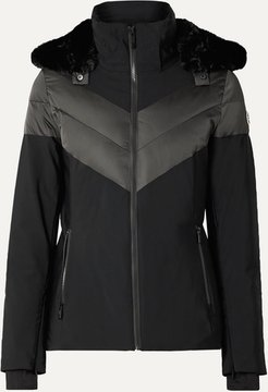 Anne Hooded Ski Jacket - Black