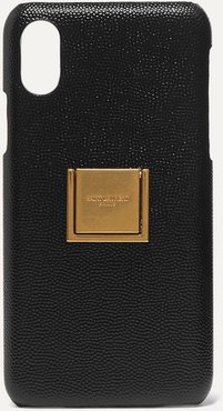 Embellished Textured-leather Iphone X And Xs Case - Black