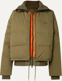 Reversible Padded Shell Down Jacket - Army green