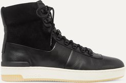 Rowan Leather And Suede High-top Sneakers - Black
