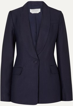 Caligula Ribbed Twill Blazer - Navy
