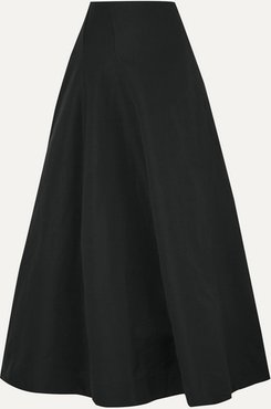 Organic Linen And Cotton-blend Maxi Skirt - Black