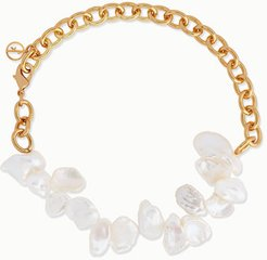 Two Faced Shelley Gold-plated Pearl Anklet