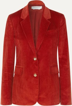 Sophie Cotton-corduroy Blazer - Red