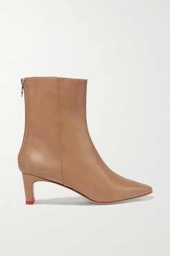 Ivy Leather Ankle Boots - Sand