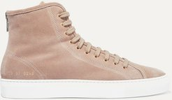 Tournament Shearling-lined Suede High-top Sneakers - Beige