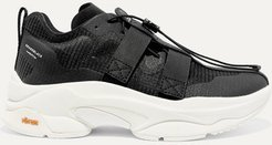 Brandblack - Pushbutton Specter Ripstop And Neoprene Sneakers