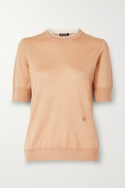 Cashmere And Silk-blend Sweater - Sand