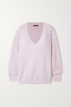 Cashmere And Silk-blend Sweater - Pink