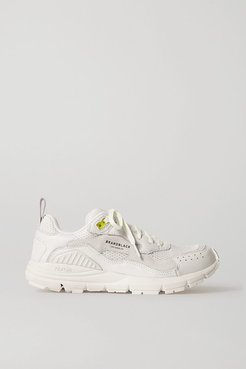 Brandblack - Nomo Mesh, Nubuck And Leather Sneakers - White