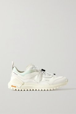 Brandblack - Sierra Smooth And Textured Leather-trimmed Ripstop Sneakers - White