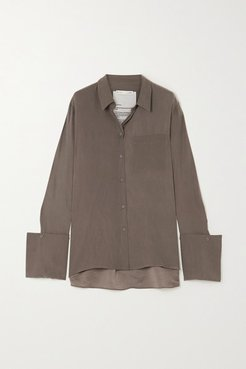 Signature Organic Silk Shirt - Gray