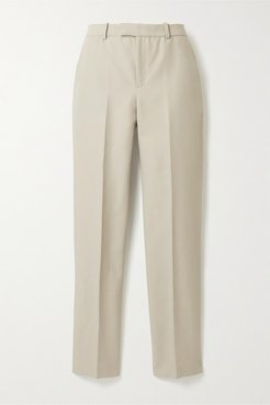 Organic Cotton Straight-leg Pants - Mushroom