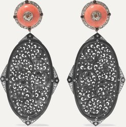 Collection Platinum-topped 18-karat Yellow And White Gold Multi-stone Earrings