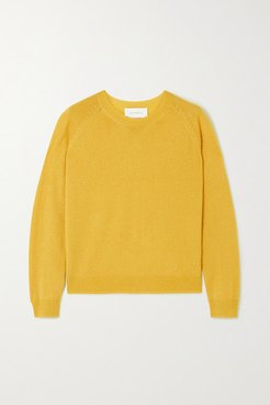 Mila Metallic Cashmere And Silk-blend Sweater - Yellow