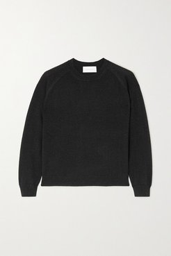 Mila Metallic Cashmere-blend Sweater - Black