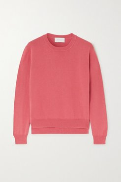 Françoise Cotton And Silk-blend Sweater - Blush