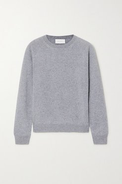 Mila Mélange Cashmere Sweater - Gray