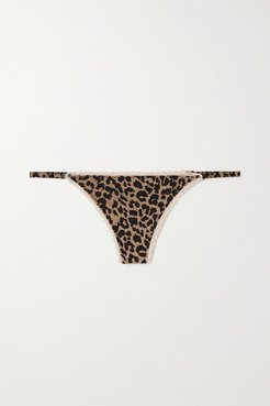 Roomie Leopard-print Stretch-jersey Thong - Leopard print
