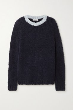 Net Sustain Lawrence Two-tone Cashmere Sweater - Navy