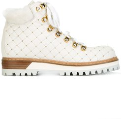 studded hiking boots - White