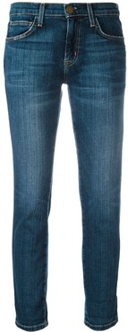 straight cropped jeans - Blue