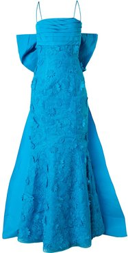 fish tail gown - Blue